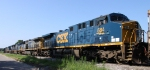 CSX 584 sits in a siding with 5 other locos