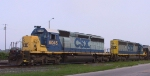 CSX 8045 & 8138 are in a siding