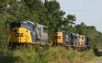 CSX 8728, 8706 and two other units sit in the siding