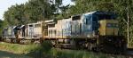 CSX 7592, 8442, & 8706 sit in a siding