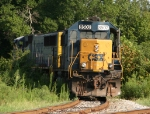 CSX 8502 & 741 sit on the wye track