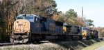 CSX 4780 sits with other units
