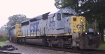 CSX 8030 sits with 8161 on the wye