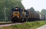 CSX 8331 leads a short train