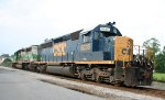 CSX 8035 & GCFX 3057 sit outside the Pigford Yard office