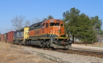 BNSF 8001 leads an eastbound train