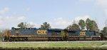 "CSX 853 leads train F707-12 onto the Wilmington sub, off the ""A"" line"