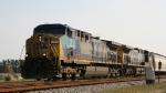 "CSX 7 leads train Q471 off the ""A"" line towards Hamlet"