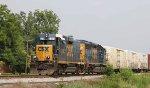 CSX 2298 leads train F720-26