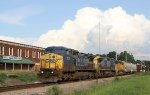 CSX 7874, CSX 7729 and UP 1950 lead train F707-22