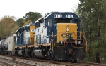 CSX 8013 sits in a siding