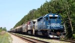 HLCX 8142 leads a CSX grain train