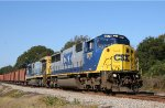 CSX 8771 & 7088 lead a ballast train