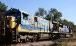 CSX 7088 earns her keep on a ballast train