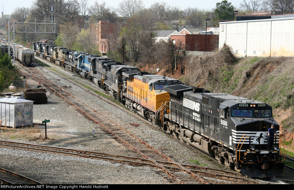 NS 9266 is the last of 10 locos on train 349