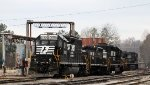 NS 3080 & 916 sit in the yard on New Years Day