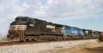 NS 349 heads out of Raleigh with 4 locos
