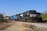NS 350 rolls past the local power