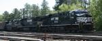 NS 7634 leads train 349 through East Durham yard