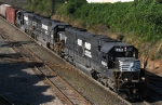 NS 6616 leads a pair of SD70's across Boylan Jct. on train 350