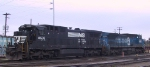 NS 8636 & 8408 sit in Glenwood Yard