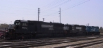 NS 6640 is in a trio of EMD units in Glenwood Yard