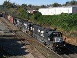 NS 6616 leads train 350 across Boylan Junction