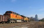 New Years Day finds UP 4443 & BNSF 4066 leading NS train 350 @ Boylan