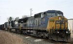 CSX 7779 leads NS train 349