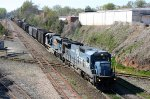 NS 8312 & CSX 4804 lead a train across Boylan Jct