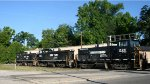 NS 2212, 2213, and 2211 head out of Glenwood Yard