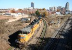 UP 4653 backs its locos down to NS Glenwood Yard