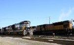NS 55 & UP 8240 sit in Glenwood Yard