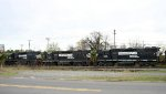 NS 4612, 2834, and 5135 work the yard
