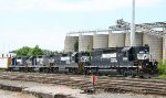 NS 3288 leads 3 different models of Geeps thru the yard