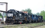 NS 2570 sits with other locomotives at the fuel rack