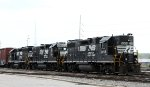 NS 5058, 700, and 3102 are parked in front of the yard tower