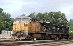 UP 6786 sits with a couple of NS units in Glenwood Yard