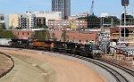NS 8950 leads train 351 past the new Union Station (under construction)
