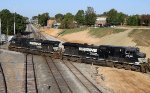 NS 8910 & 9648 lead train E25 southbound across Boylan Junction