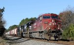 CP 9735 leads NS train 61U eastbound