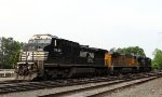 NS 8448, UP 6746, and anothe NS dash 9 layover in Glenwood Yard