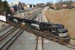 NS 9421 & 9212 lead train E25 across Boylan Junction
