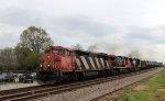 CN 2420 leads NS train 6W4 past the Fairgrounds