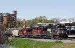 NS 9217 leads train 64D past Union Station