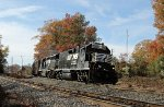 NS 708 leads train P54 eastbound
