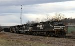 NS 9172 leads train 165 out of Asheville Yard