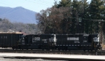 NS 5036 & 4629 are the power on train P87 as it heads into the yard