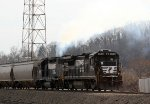 NS 3531 & 5079 switch the yard as train PA20
