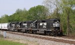 NS 5564 leads 2 other units long hood forward on train P60